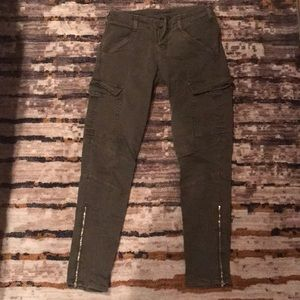 J Brand Green skinny Cargo Pants